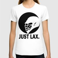 lacrosse T-shirts featuring Lacrosse Just Lax Helmet by YouGotThat.com
