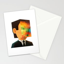 Pixel head Stationery Cards