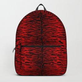 Punk Rock Metallic Red Tiger Backpack