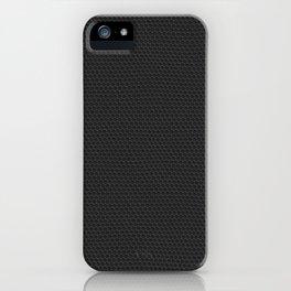 Matte Black Pebbled Hexagonal Reptile Snakeskin Pattern iPhone Case