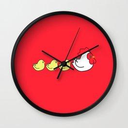 Chicken Family Wall Clock