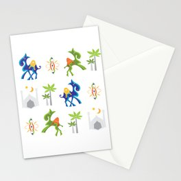 Camel Moroccan Pattern Stationery Cards