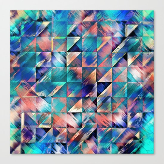 Textural Reflections of Turquoise Canvas Print