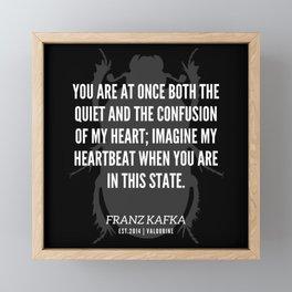 65 |  Franz Kafka Quotes | 190517 Framed Mini Art Print