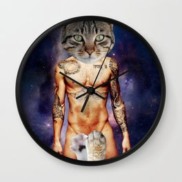Cat-am Levine (Paws all Over) Wall Clock