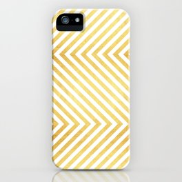 Gold and marble art VII iPhone Case