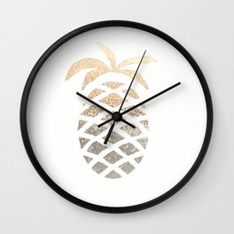 GOLD PINEAPPLE Wall Clock