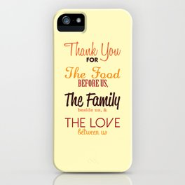 Thanksgiving Grace | Fall Colors iPhone Case