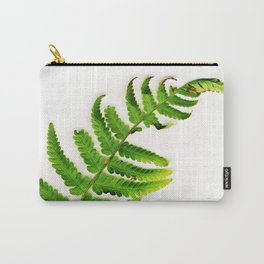 Fern on white Carry-All Pouch