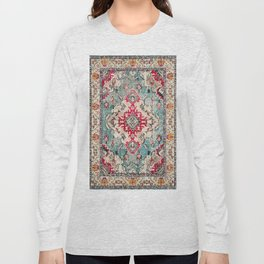 N132 - Heritage Oriental Traditional Vintage Moroccan Style Design Long Sleeve T-shirt
