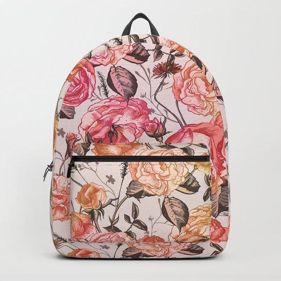 Vintage Floral Watercolor Pattern Backpack