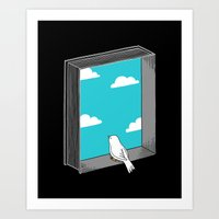 ilovedoodle Art Prints featuring Every book a window by I Love Doodle