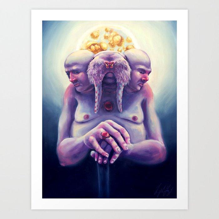 High Society Walrus Art Print