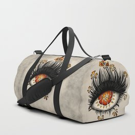 Weird Eye Of Fractured Lava | Digital Art Duffle Bag