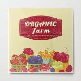 Organic Farm Market. Berries. Metal Print