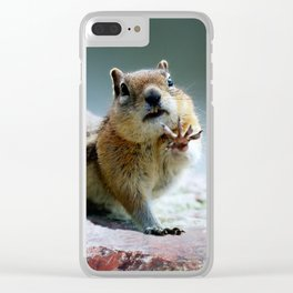 Talk To The Hand Clear iPhone Case
