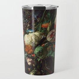 Jan Davidsz de Heem - Vase of Flowers Travel Mug