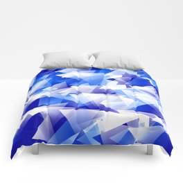 triangles in shades of blue Comforters
