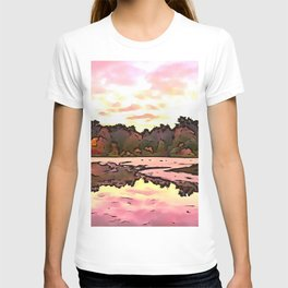 The Salmon Lake. (Painting) T-shirt
