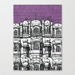 Hawa Mahal (Tyrian) Canvas Print