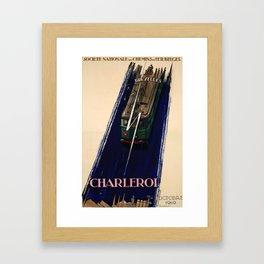 Werbeplakat Charleroi Marci 1949 Framed Art Print