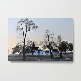 Lexington, KY horse farm Metal Print