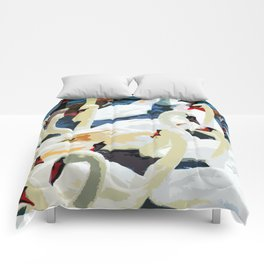 Swans on the Lake Comforters