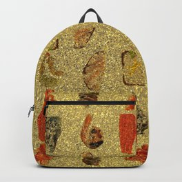 Foodie Gold Glitter Pattern Backpack