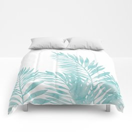 Palm Leaves Island Paradise Comforters
