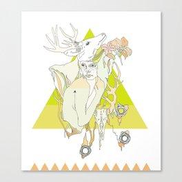 The White Fawn Canvas Print