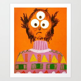 Shape Sweater Monster Art Print