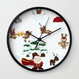 Where are the reindeers? Wall Clock
