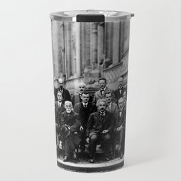 World-Renowned Physicists of 1927 at Solvay Conference Travel Mug