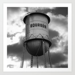 Vintage Bourbon - BW Square Print Art Print