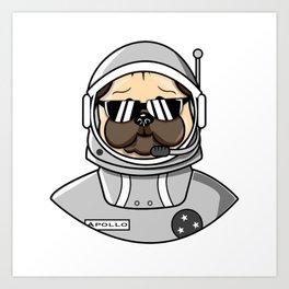 Apollo Dog in Space Suit Art Print