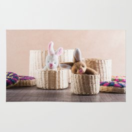 Rabbits in Baskets Rug