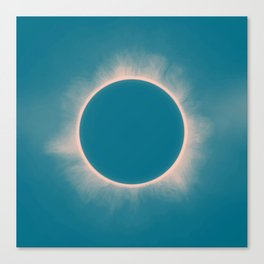 Solar Eclipse in Morning  color Canvas Print