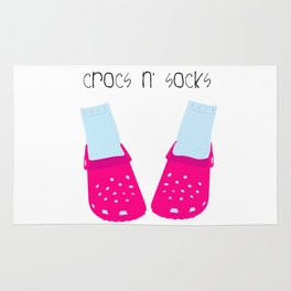 Crocs n' Socks Rug