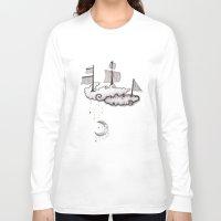 ship Long Sleeve T-shirts featuring SHIP by Jumanaah Hiasat