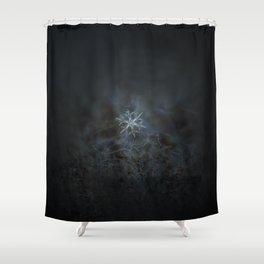 Real snowflake macro photo - Rigel Shower Curtain