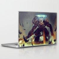 titan Laptop & iPad Skins featuring Titan Terrabreaker by Benedick Bana