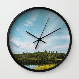 Lac Des Sucreries Wall Clock