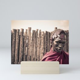 Maasai Warrior Ngorongoro 4117 Mini Art Print