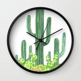 Cactus Desert Wall Clock