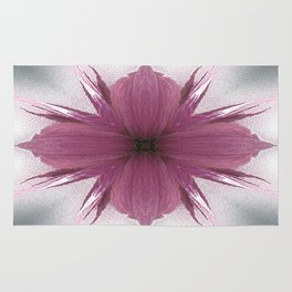 Pink Windflower 4 Flowers Floral Rug