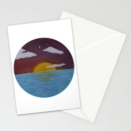 Oceanside Sunrise -Acrylic Nature Painting Stationery Cards