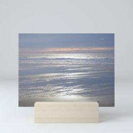 PEACEFUL BEACH WINTER SUNSET CORNWALL Mini Art Print