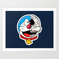doraemon Art Prints featuring Doraemon  by Santos