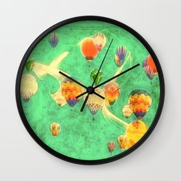 Balloon Love: up up and away Wall Clock