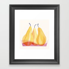 Baked Pears | 100 Days of Cookbook Spots Framed Art Print